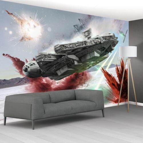 Star Wars Battle Ships Wallpaper Woven Self-Adhesive Wall Art Mural Decal M236