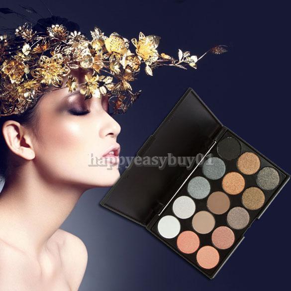 15 Colors Makeup Cosmetic Warm Nude Matte Shimmer Eye Eyeshadow Palette 2017