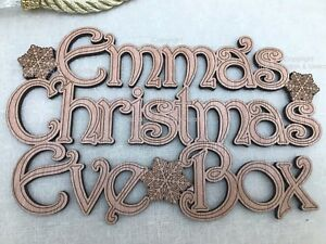 Customised Christmas Eve Box High Quality Wooden Box Snowflakes