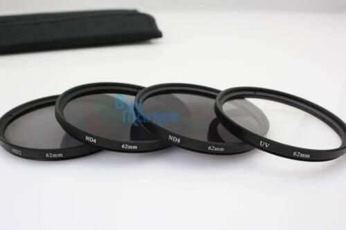 UV Filter ND Kit Set with CASE for DSLR Camera Lens New 58mm ND2+ND4+ND8