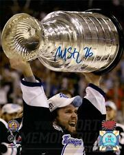 Martin St. Louis Tampa Bay Lightning Signed Raising Stanley Cup 8x10