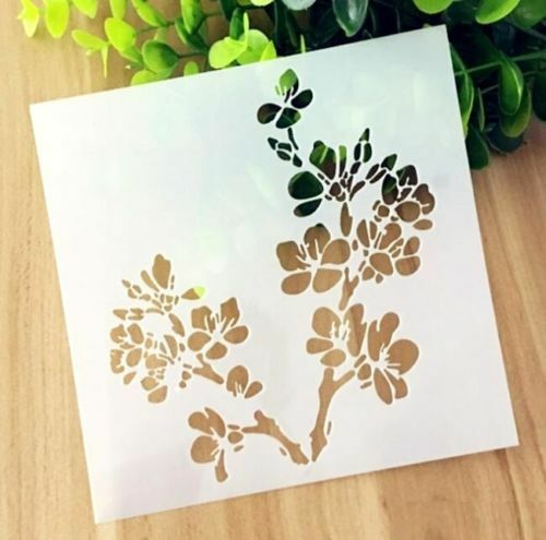 Cherry Blossoms Pattern Layering Stencil Template DIY Scrapbooking Home Decor ~