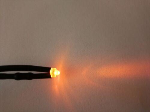 1.8mm 6V//12V//24V Red Yellow Blue Warm White Orange Diffused Pre-Wired LED Leds