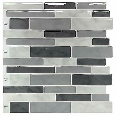 10 Sheet Peel and Stick Kitchen Backsplash Tiles, 11.8\