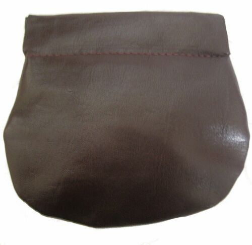 Squeeze Top Golunski Unisex Quality Leather Snap Shut Coin Purse