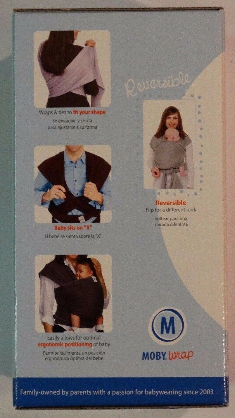 9e7ac5a8bbc Moby Wrap Original 100 Cotton Baby Carrier Victoria for sale online ...