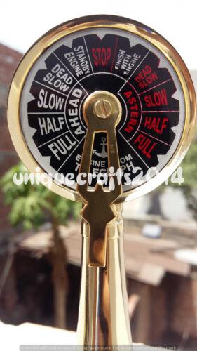 Nautical Solid Brass Telegraph Vintage WORKING RING BELLMarine Ship Engine Room