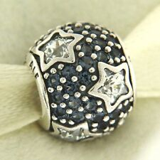 e7e18a832 Authentic Pandora 791382CZ Follow The Stars Midnight Blue Silver Bead Charm