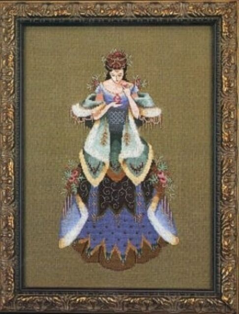 """SALE COMPLETE X STITCH MATERIALS /""""LADY OF ROSES/"""" by Passione with DOWNLOADABLE"""