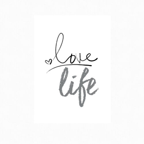 Love Life Motivational Inspirational Positive Thoughts Quote Poster Print Wall