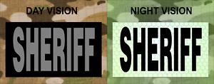 "SHERIFF GREY ON IR MAGIC BLACK solasX PATCH 3.5/""X2/"" WITH VELCRO® BRAND FASTENER"