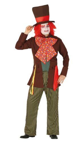Adulto Uomo Mad Hatter Costume Per Halloween Libro Settimana Costume Festa