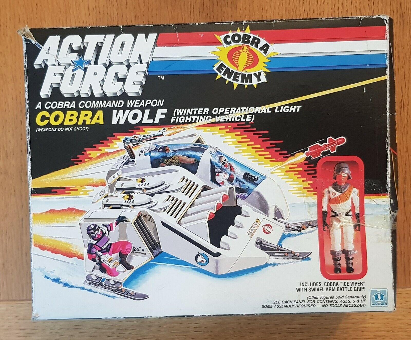 GI JOE AZIONE forza COBRA Lupo con ghiaccio VIPER COMPLETO 1985 ORIGINALE VINTAGE