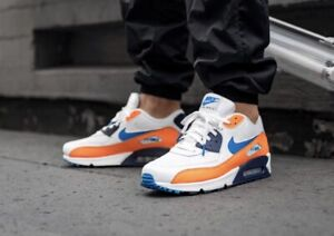 air max 90 bleu orange