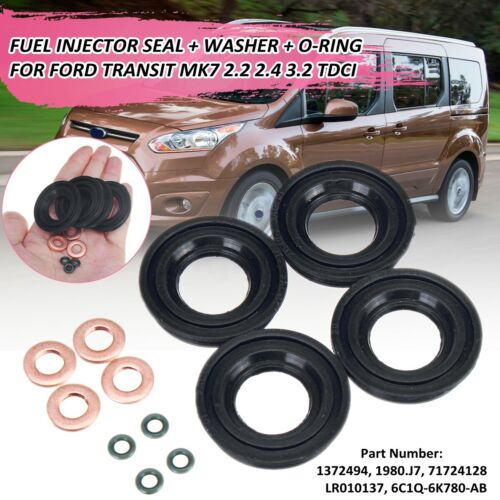 FOR FORD TRANSIT MK7 2.2 2.4 3.2 TDCI FUEL INJECTOR SEAL/&WASHER /& ORING
