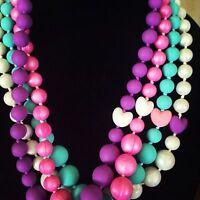 Stylish Silicone Heart Bead Teething / Nursing Necklace For Mommy Babywearing