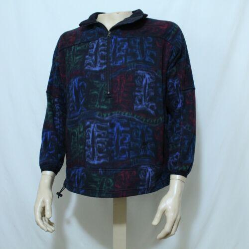 Vtg Nike 90s Printed Fleece Pullover Half Zip Jac… - image 1