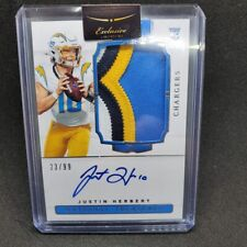 2020 National Treasures Justin Herbert True RPA /99 RC 4 Color Patch Rookie Auto