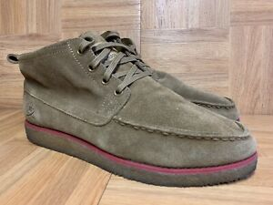 Morgue De este modo clima  RARE🔥 Adidas x Ransom Brown Suede Ankle Moc Boots Sz 8 Men's Shoes Red  Stripe | eBay