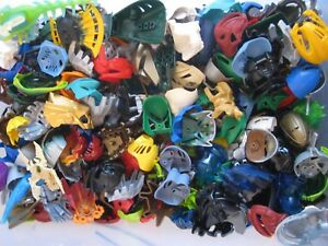 Lego-Bionicle-Hero-Factory-MASK-LOT-of-10-RANDOM-PIECES-from-lot-shown