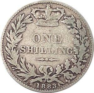 1837-To-1901-VICTORIA-silver-shilling-Choix-de-l-039-annee-date