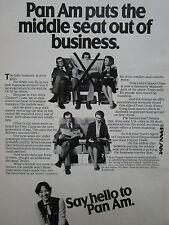 5/1981 PUB PAN AM AIRLINE CLIPPER CLASS STEWARDESS HOTESSE AIR ORIGINAL AD