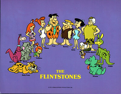 Hanna Barbera STYLE GUIDE PLATE - The FLINTSTONES