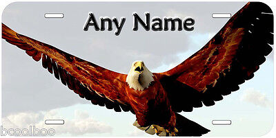 Bald Eagle Any Name Personalized Aluminum Car Auto Tag Novelty License Plate A02