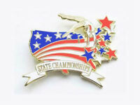 Gymnastics State Championships Lapel Pin Spectacular Design