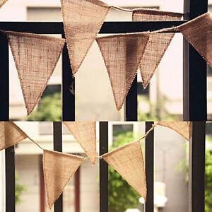 Hessian-Fabric-Bunting-Vintage-Wedding-Baby-Shower-Shabby-Chic-Decoration-Plain
