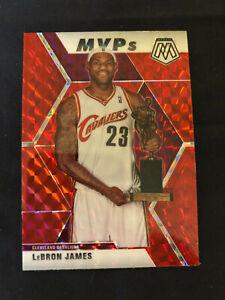 2020-Panini-Mosaic-LeBron-James-MVP-Cavs-Lakers-SUPER-RARE-Red-Holo-Prizm