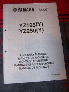 AgréAble 2u Notice/manuel Montage/assemblage Supplement Yamaha Moto Yz125 Yz250 Yz 125 DernièRe Technologie