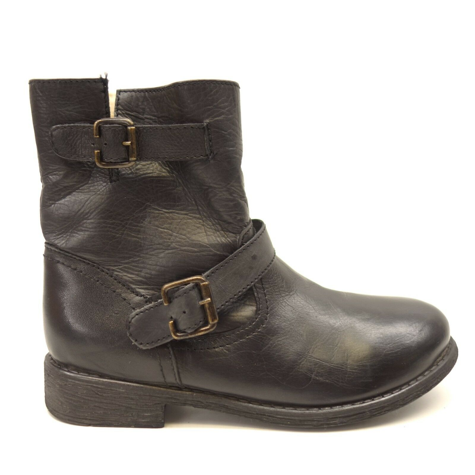 ZIGI Soho Soho Soho Womens Black Moto Buckle Winter Hiking Ankle Bootie Boots US 7M 5d384a