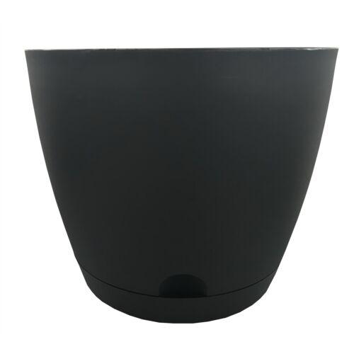 15cm Or 20cm 4x Eden OSLO SELF WATERING POTS Indoor /& Outdoor Use CHARCOAL