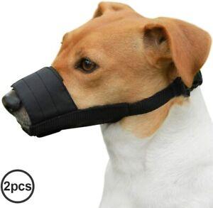 2pcs Dog Muzzle Nylon Safety Mouth