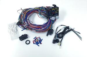 Universal 12 V 24 circuito 12 fusible cableado ARNÉS Cable Kit V8 Rat Hot Rod GM
