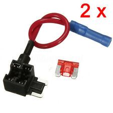 LouiseEvel215 Car 12V In-line Mini Blade Fuse Holder With 5 10 15 20 25 30A Fuses
