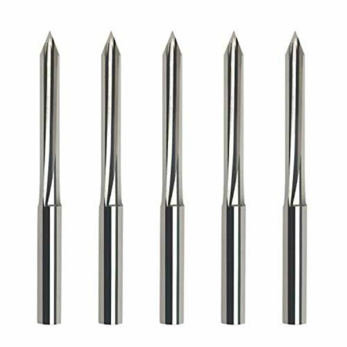 Metal Engraving Bits,EnPoint 60 Degree V Bits CNC Engraving Tools with 2-Flute S