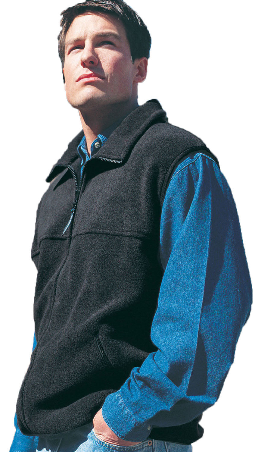 Tri-Mountain Men's New Big And Tall Polyester Winter Fleece Vest. 8350-Tall