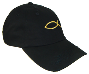Black Gold Jesus Fish Vintage Polo Baseball Cap Dad Hat Caps Hats ... 1d564ecbff9