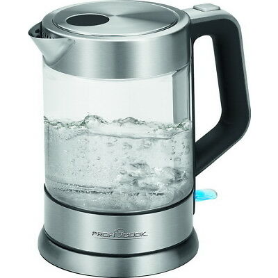 ProfiCook Glas-Wasserkocher Edelstahl-Glaswassserkocher Kocher WKS 1107 G NEU