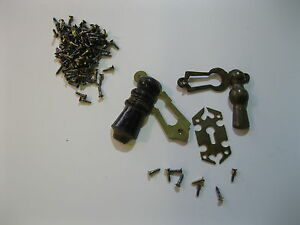 """10 Old Brass Slotted Countersunk Screws 3//8/"""" no 4"""