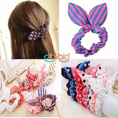 Cute Girls Rabbit Ear Hair Tie Bands Ropes Japan Korean Style Ponytail Holder