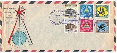 Nicaragua 1958 International Exposition Fdc Auf Luft Post Cover Edge Faltbar Hohe Belastbarkeit Nicaragua Briefmarken