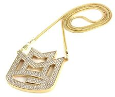 """ICED OUT MAYBACH MMG PENDANT w/ 30"""" & 36"""" CHAIN NECKLACE RICK ROSS HIP HOP SWAG"""