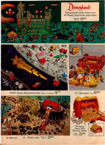 1970 ADVERTISEMENT 2 Pg Disney Set Fantasyland Castle Appolo Space Kennedy Air
