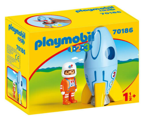 PLAYMOBIL Razzo Con Astronauta 1.2.3 70186 70186 PLAYMOBIL