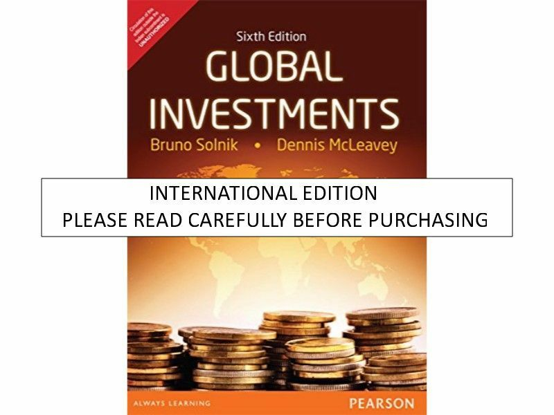 Global Investments by C  F  A  Staff, Dennis McLeavey and Bruno Solnik  (2008, Hardcover)