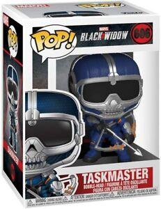 Funko Pop! #606 Marvel Black Widow Taskmaster CON FIOCCO DA COLLEZIONE GIOCATTOLO IN VINILE