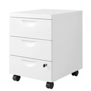 Aktenschrank ikea  Details zu IKEA ERIK Rollcontainer mit 3 Schubladen (41x57cm) Aktenschrank  weiß Aktenregal